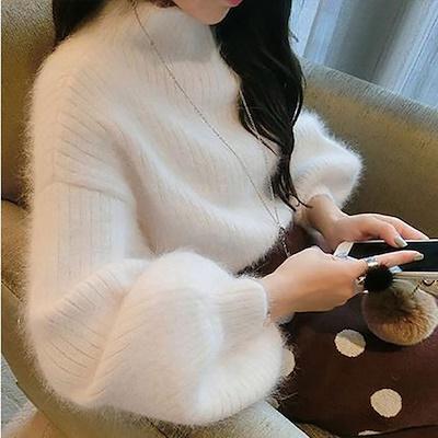 画像: [Qoo10] ハイネック ニット セーター レディース... : レディース服