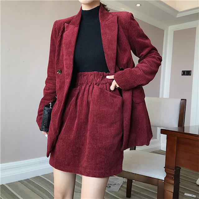 画像: [Qoo10] 6度 : 女性 スーツ コート 2点セット : レディース服