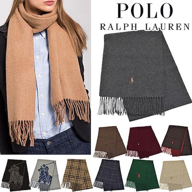画像: [Qoo10] ポロ・ラルフローレン : イタリア産POLOマフラー男女兼用ブ... : バッグ・雑貨