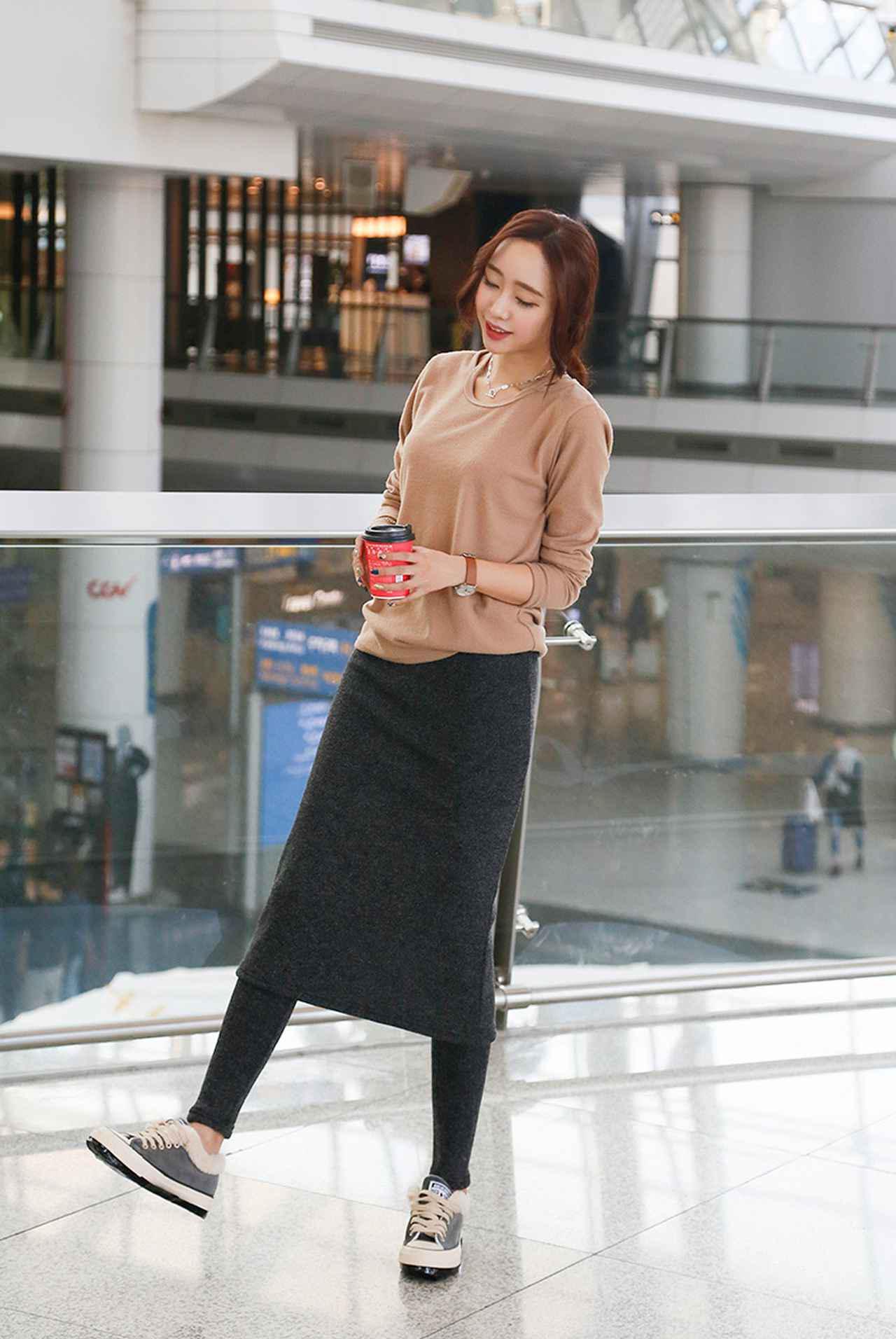 画像4: 暖かくてかわいい!寒い日のロングスカート7選