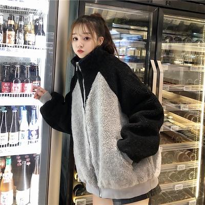画像: [Qoo10] ファージャケット モコモコ シンプル : レディース服