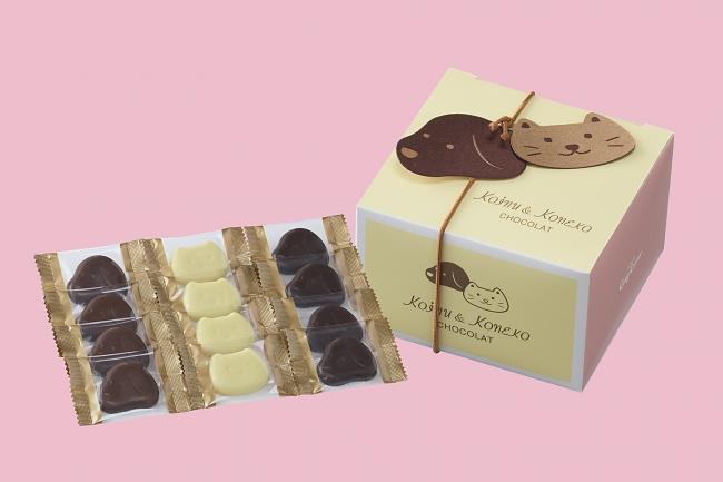 画像: 商品名:「小犬と小ねこのチョコレート(12個入)」[NEW] 価格:¥600(税込¥648)