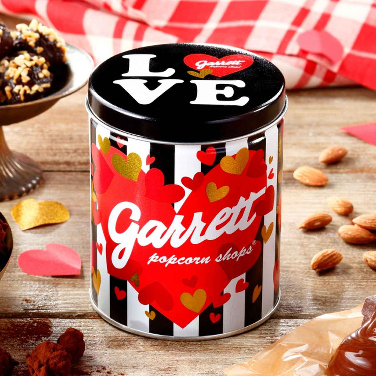 画像2: 濃厚リッチな味わいのレシピと、ハート溢れるデザイン缶3種のバレンタインシリーズ!『アーモンド チョコレートトリュフ』&『Garrett バレンタイン缶』&『バレンタインMIX』