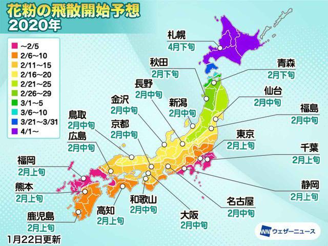 画像1: 関東は2月上旬から!いよいよツラ~い花粉シーズン到来