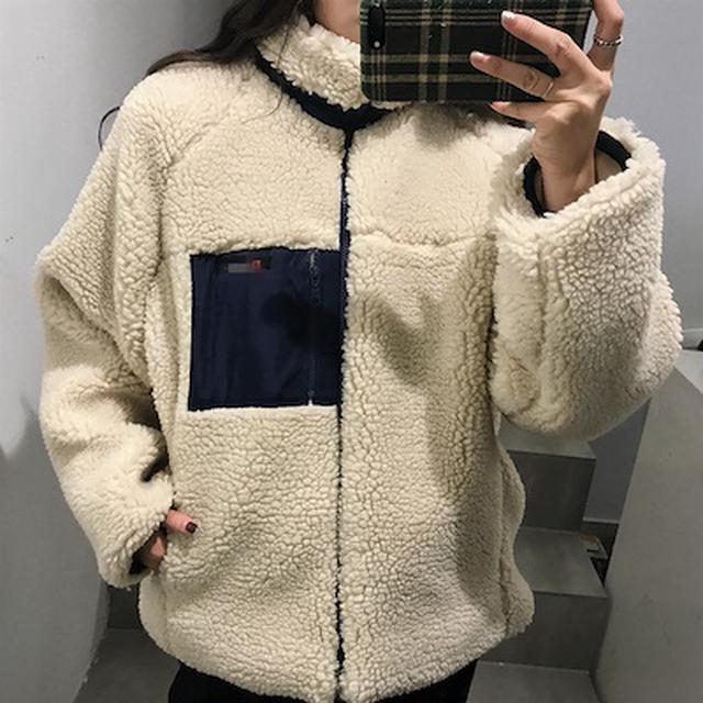 画像: [Qoo10] レディースメンズボアブルゾンジャケット : レディース服