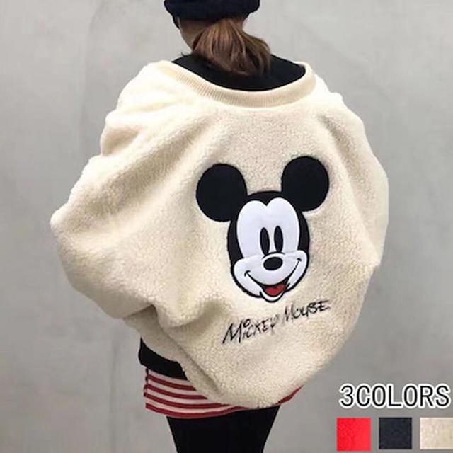 画像: [Qoo10] ミッキーデザイン大人気商品ボア ジャケッ : レディース服