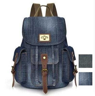 画像: [Qoo10] 新品品質よいデニムリュックスポーツバッグ : バッグ・雑貨