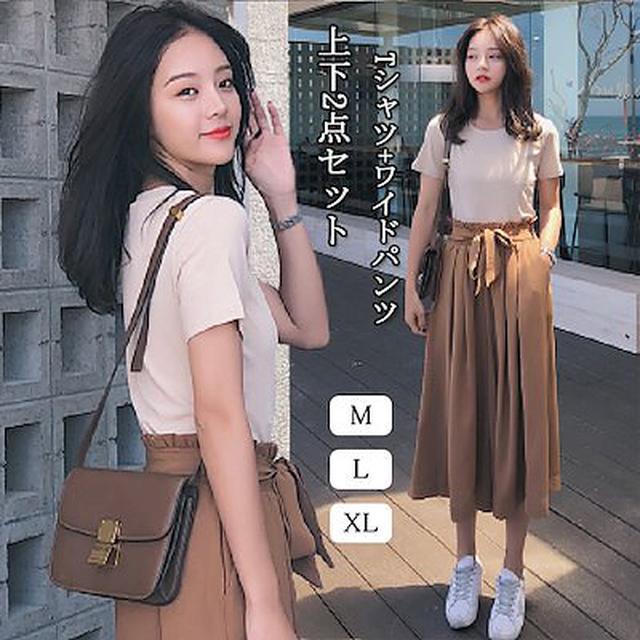 画像: [Qoo10] 2020春夏先取り2点セット(Tシャツ+... : レディース服