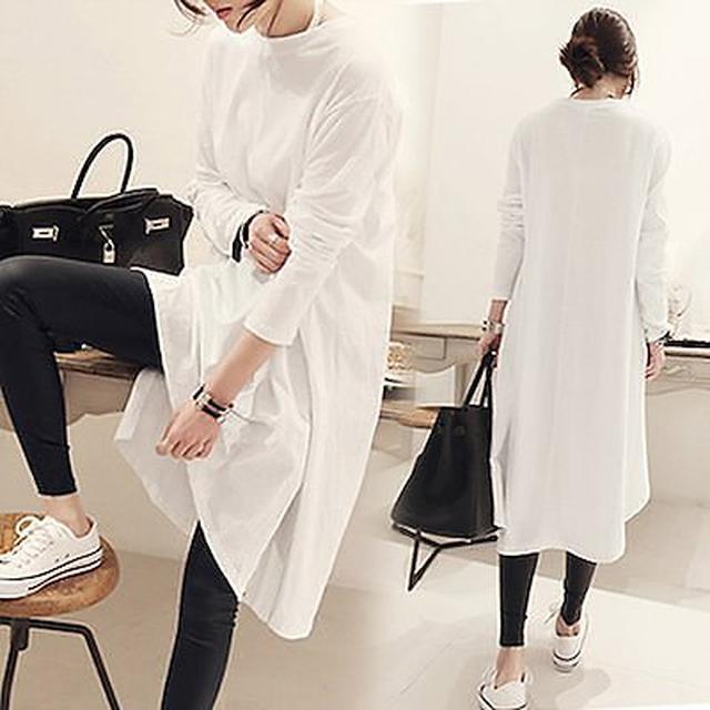画像: [Qoo10] 2020年春と秋の新しい韓国語版ロングと... : レディース服