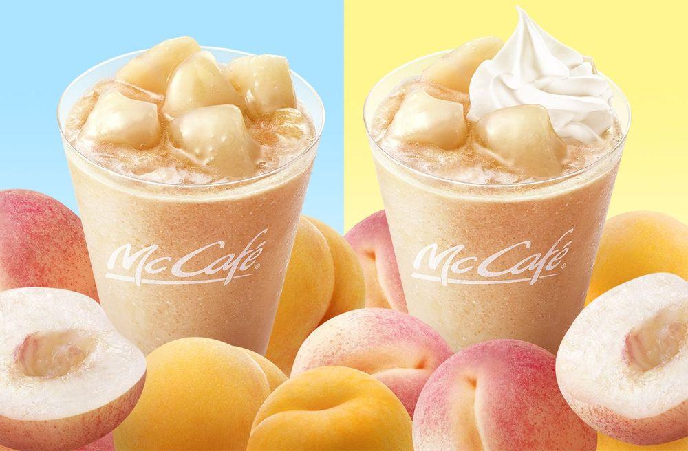 """画像: 白桃と黄桃の果汁を使用した""""ももづくし""""なドリンクが登場"""