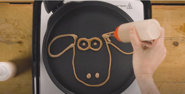 画像1: ひつじのショーン公式チャンネルで紹介!おうちで作れる可愛いパンケーキ