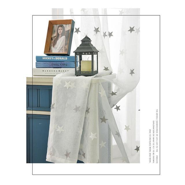 画像2: 星柄レースカーテン