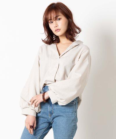 画像: おすすめコーデ⑤  ボリュームシャツ×ジーンズのワンポイントコーデ