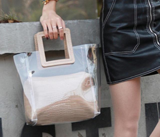画像2: 爽やかなデザインで大活躍の「クリアバッグ」