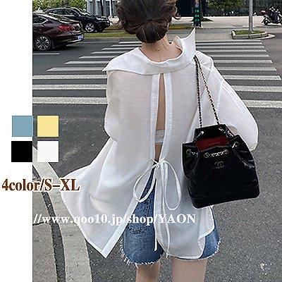 画像: [Qoo10] N458 日焼け対策 シアーシャツ ゆっ... : レディース服