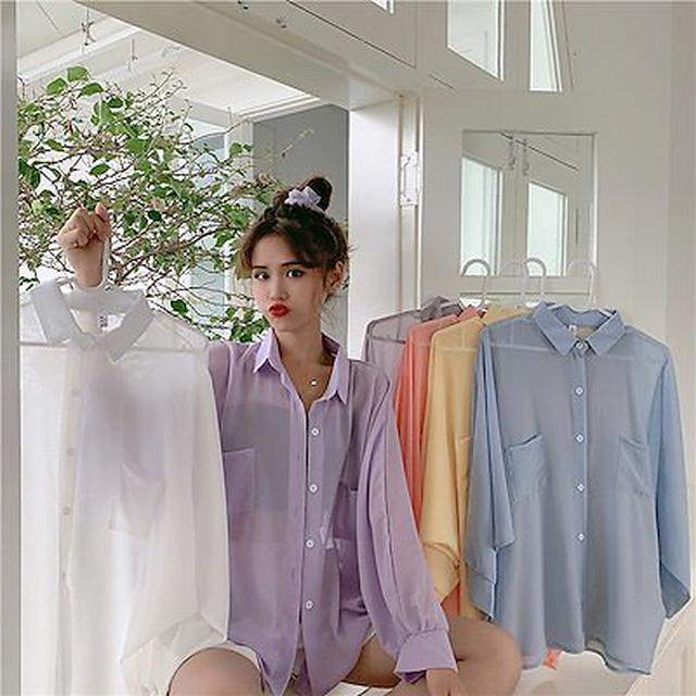 画像: [Qoo10] シャツ ブラウス : レディース服