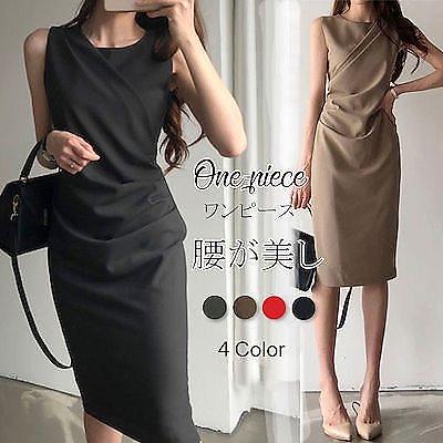 画像: [Qoo10] 韓国ファッション袖なしワンビース : レディース服