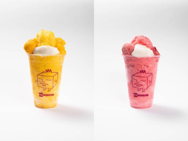 画像: ■カップマンゴーかき氷 : 790円 ■カップいちごかき氷 : 750円