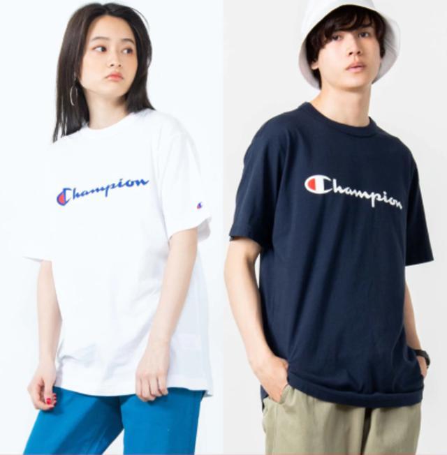画像: チャンピオンロゴTシャツ bit.ly