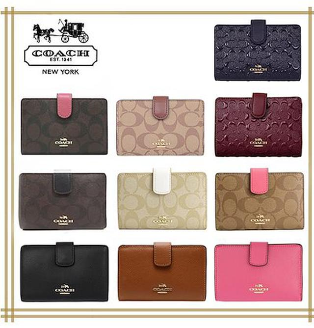 画像: [Qoo10] Coach : MEDIUM CORNER WALLET : バッグ・雑貨