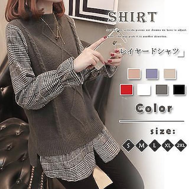 画像: [Qoo10] 韓国ファッションレイヤードシャツ