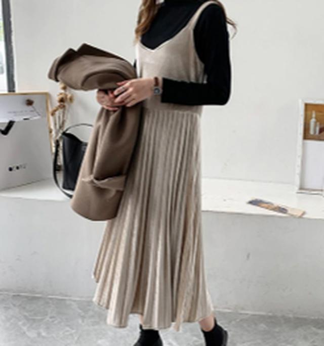 画像: ベロアキャミワンピース www.qoo10.jp