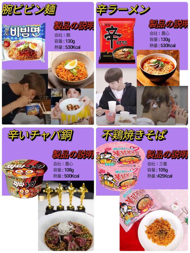 画像1: BTSが好きな韓国ラーメン4種セット