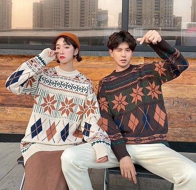 画像: [Qoo10] 恋人 ニット長袖のセーター : レディース服