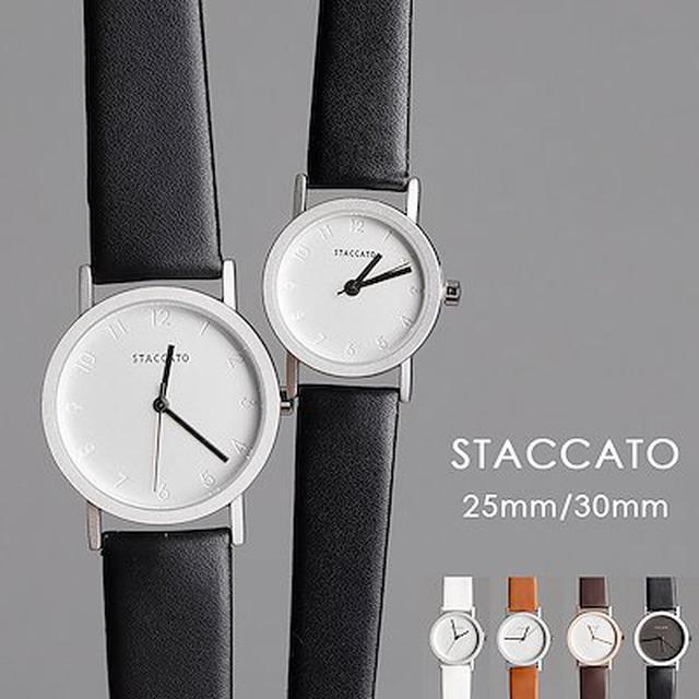 画像: [Qoo10] 【ロングヒット商品お早めにゲットしましょう】[staccato] 113レディース ペア 腕時計 【プレゼントにピッタリ】 シンプルラインスリムウォッチ 6色