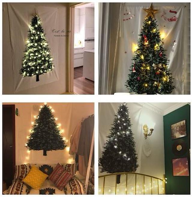 画像: クリスマスツリー タペストリー