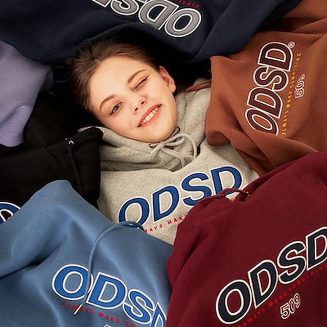 画像: [Qoo10] IZ*ONE&THE BOYZ着用韓国大人気ブランド【ODD STUDIO公式】 ODSD ロゴポイントフードパーカー / オッドスタジオロゴポイントスウェット