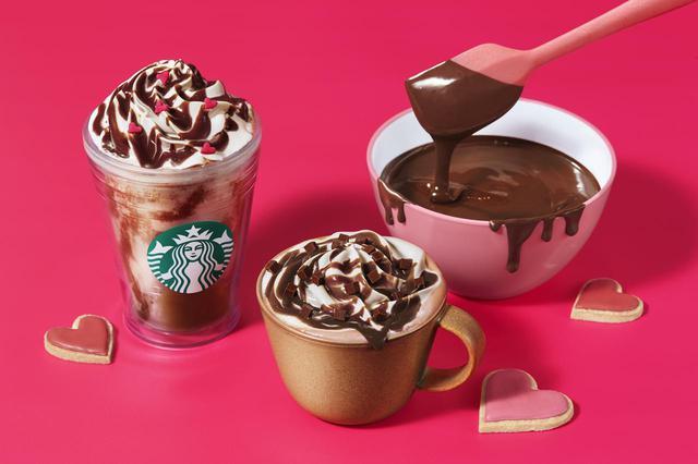 画像1: どちらかなんて選べない!2つの異なる食感でチョコレートを楽しむスターバックス