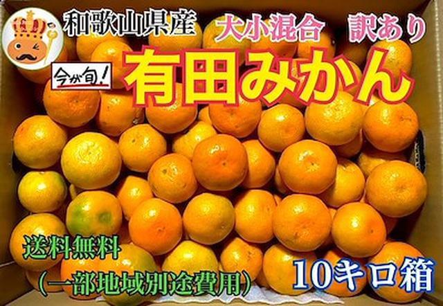 画像: [Qoo10] 和歌山県 本場の訳あり有田みかん 10K... : 食品