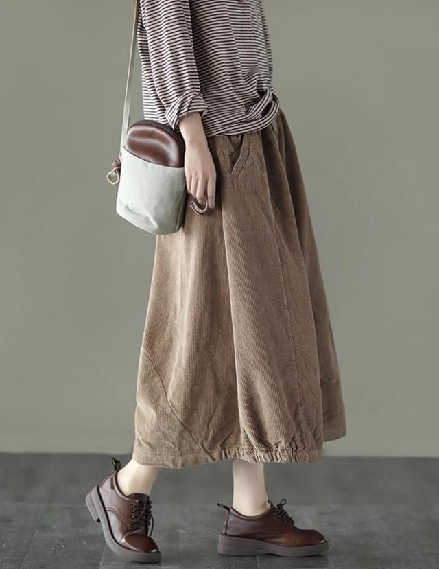 画像2: コーデュロイロングバルーンスカート