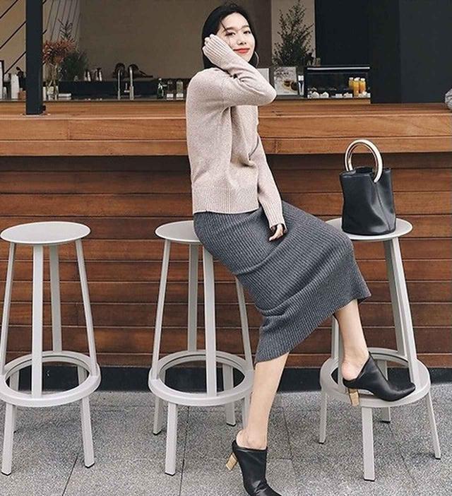 画像2: ストレッチロングタイトスカート