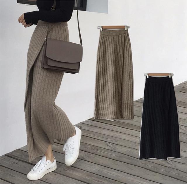 画像3: ニット巻きマキシ丈スカート