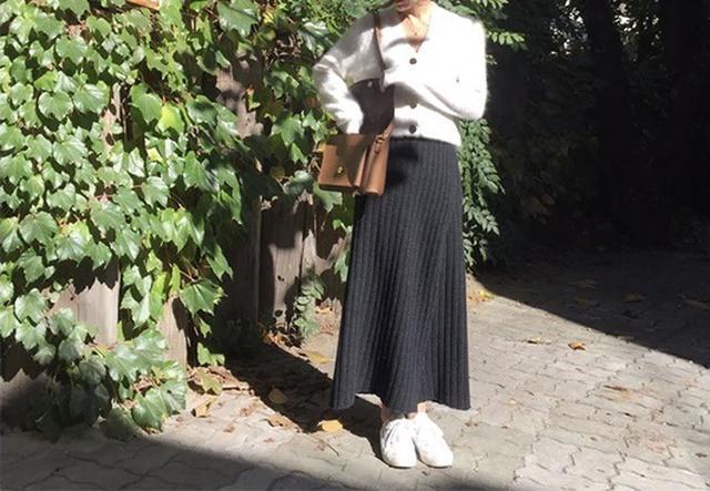画像2: ニット巻きマキシ丈スカート
