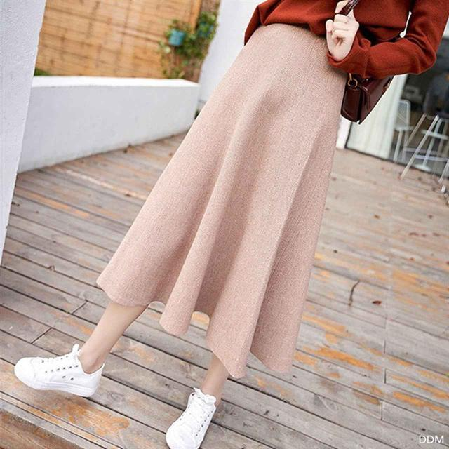 画像2: ニットロングバルーンスカート