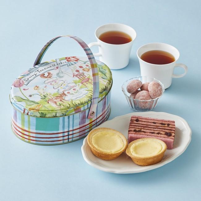 画像1: お花見やピクニックに!春の焼き菓子と紅茶のセット