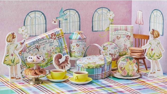 """画像: ホワイトデーや春のギフトに!桜の花びらをちりばめたお茶や桜と抹茶のフィナンシェで""""春のティータイム""""を愉しもう!"""