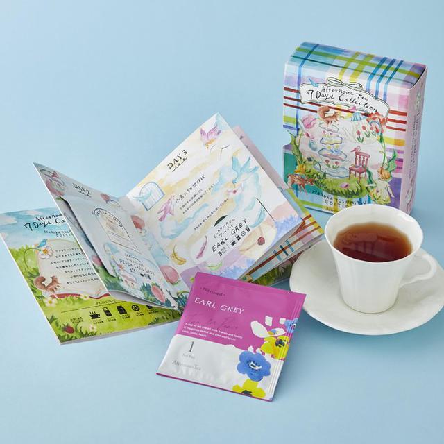 画像4: 桜の花びらと桃色のルバーブチップをちりばめたお茶など春限定のお茶