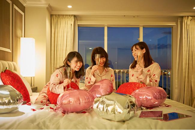 画像1: 【ヒルトン東京お台場】お台場で過ごす、女の子のためのトクベツな休日「GoGo! Strawberry Girls' Night~超!おこもり女子会~」
