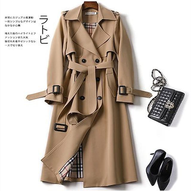 画像: [Qoo10] クラシックトレンチスーツロングコート-す... : レディース服