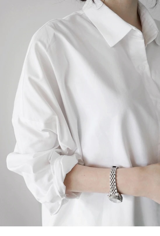 画像2: ロングシャツブラウス