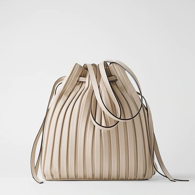 画像1: 巾着型バッグ