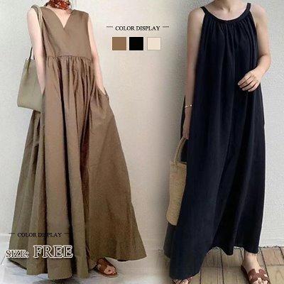 画像: [Qoo10] 春の新作/韓国のファッションロングシャツの夏のシャツのワンピースの大サイズ/長袖 スタンドカラー 立ち襟 シャツワンピ 無地 ストライプ 羽織