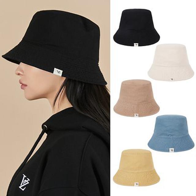 画像: [Qoo10] 男女共用人気 [VARZAR] Monogram Label Pigment Bucket Hat