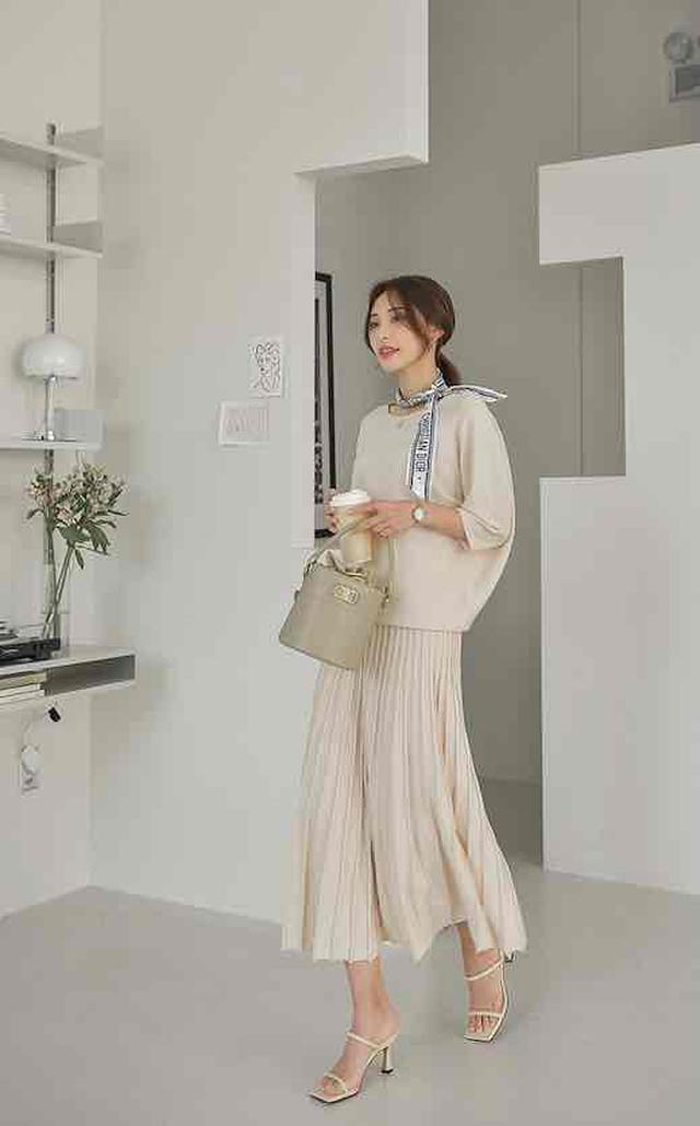画像2: 半袖ニット+スカート
