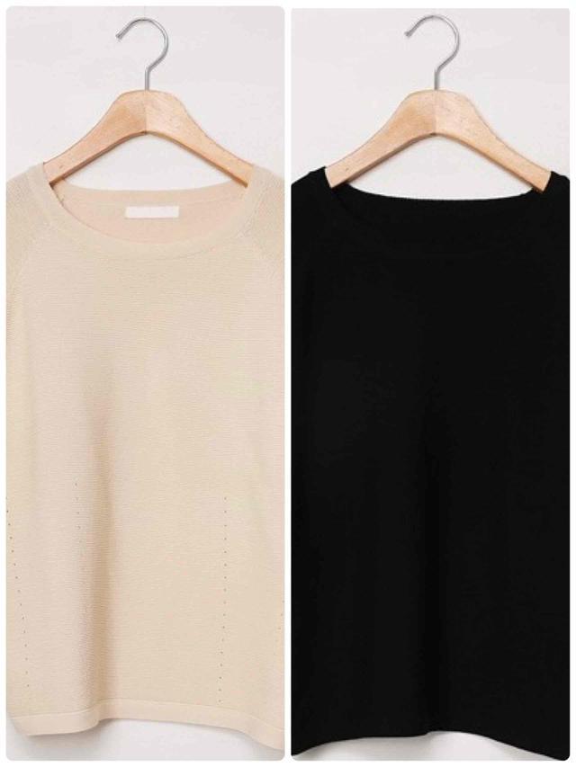 画像3: 半袖ニット+スカート