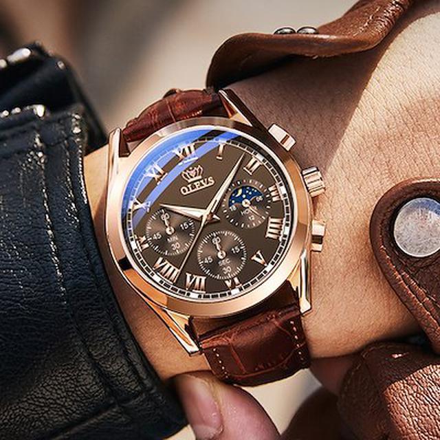 画像: [Qoo10] OLEVS : 父の日プレゼント OLEVS メンズ 腕... : 腕時計・アクセサリー